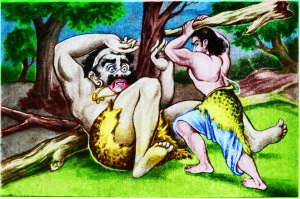 Bhima_fighting_with_Bakasura_color