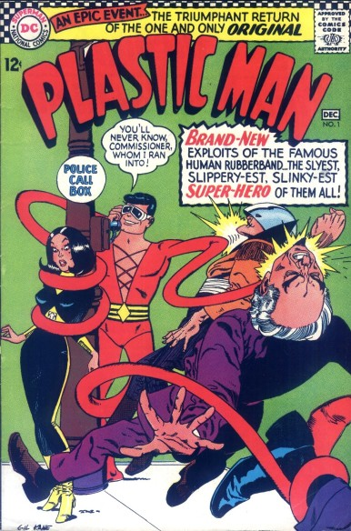 Image result for golden age plastic man comic