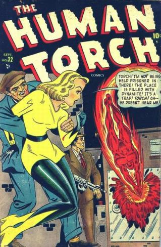 Image result for sun girl and the human torch