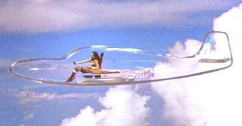 Image result for wonder woman invisible jet